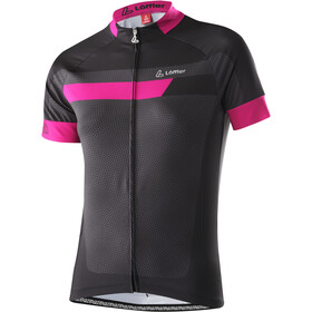 Löffler Hotbond Bike Jersey Full-Zip Women, black/berry